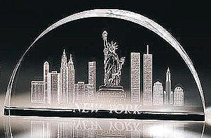 optic glass new york skyline laser inscription
